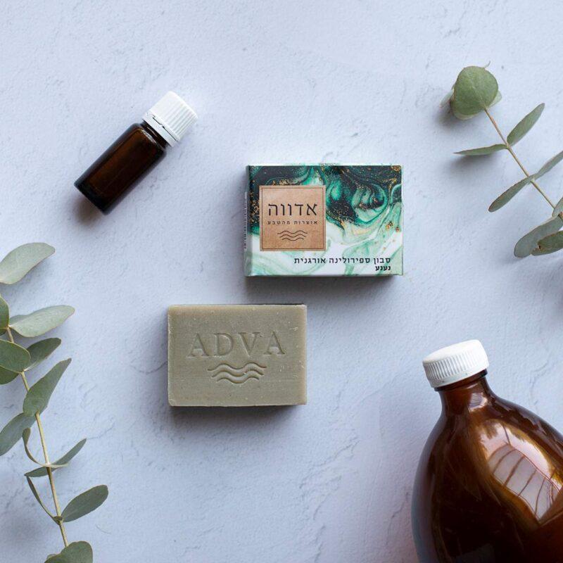 סבון ספירולינה אורגנית ונענע